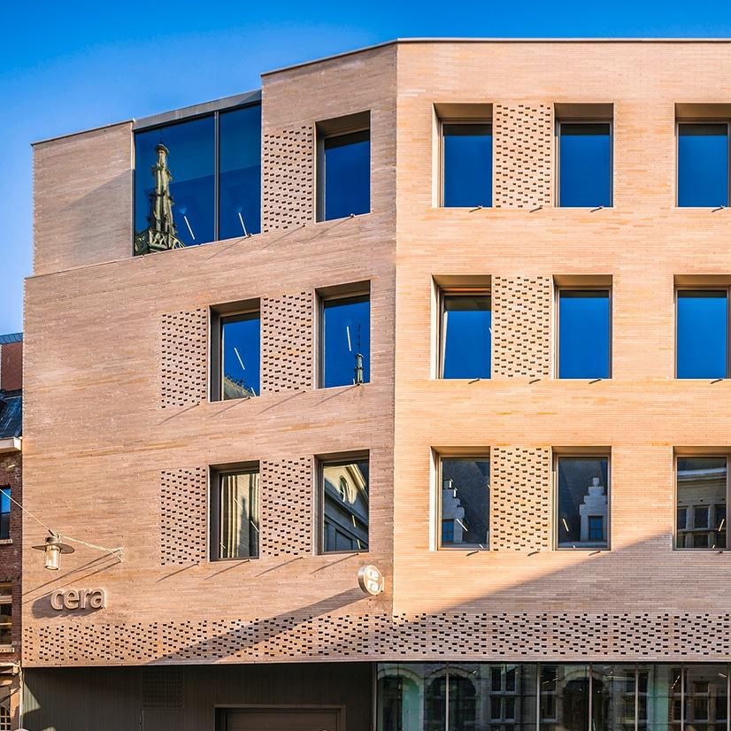Banque CERA HQ pierre de comblanchien ROCAMAT Photo SimonVanRanst
