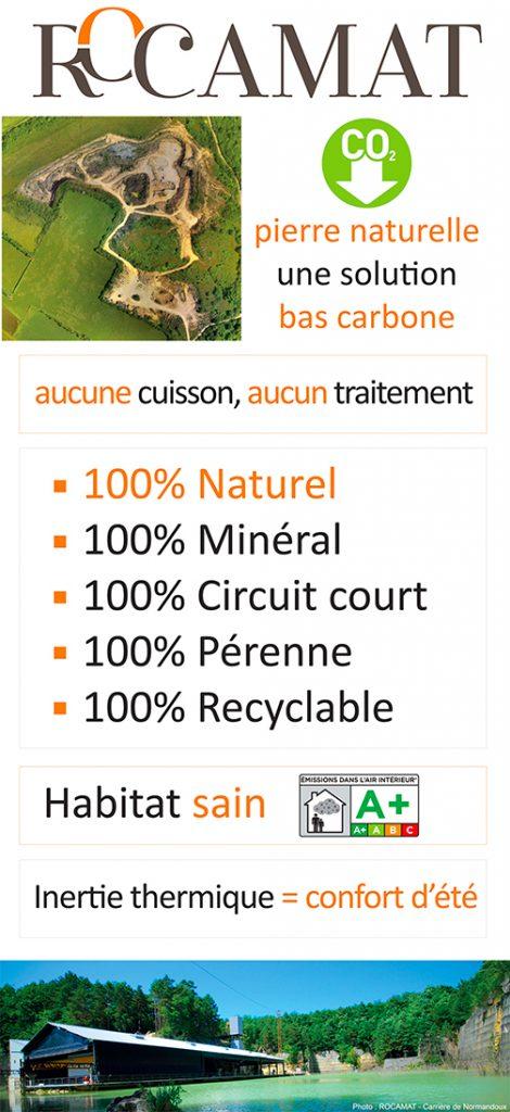 Pierre naturelle solution bas carbone sept 2020 ROCAMAT