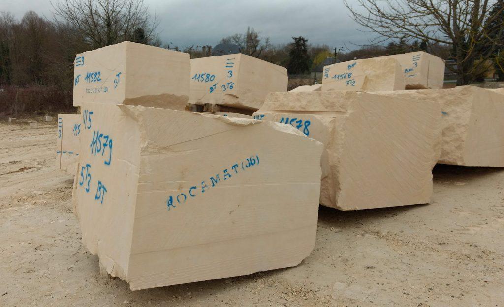 blocs carriere de Bonnillet Tervoux ROCAMAT
