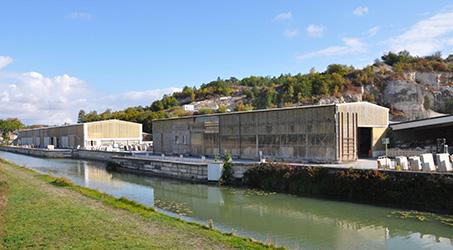 usine de transformation pierre naturelle ROCAMAT Ravieres map