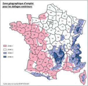 Zone géographique d'emploi pour les dallages extérieurs