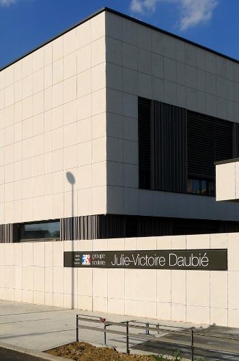 Groupe scolaire J Victoire Daubie pierre Anstrude Lyon 5 vertical