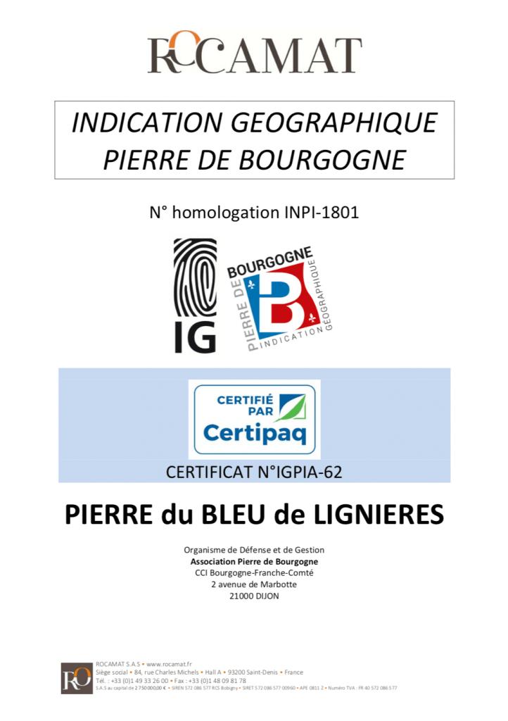 IG ROCAMAT pierre bleu de lignieres 2021