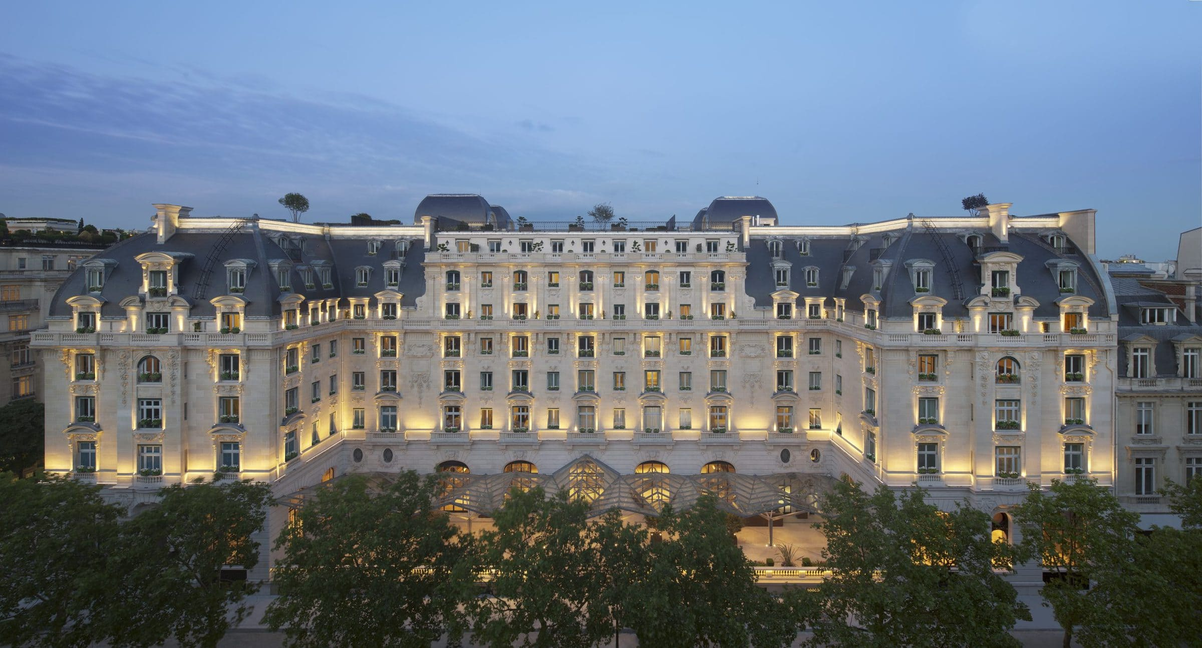 The Peninsula Paris Exterior Night scaled