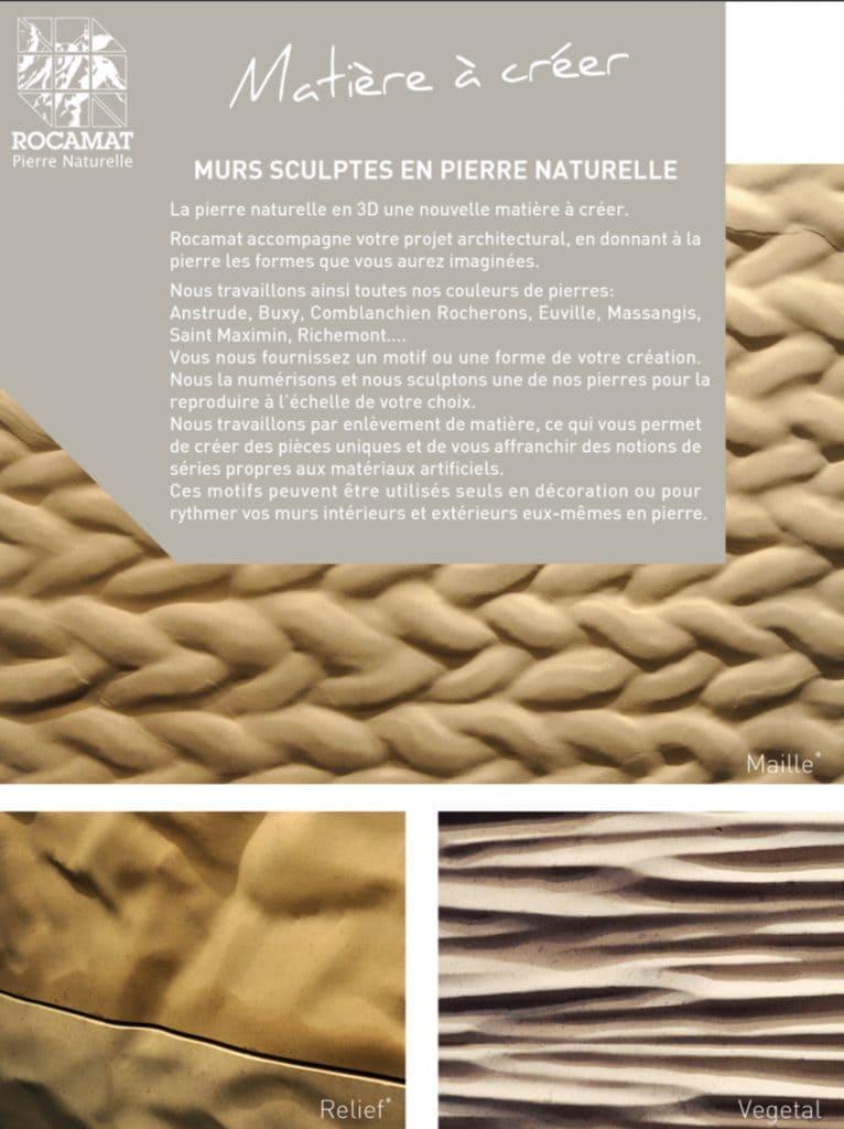 vignette murs sculptes pierre naturelle rocamat